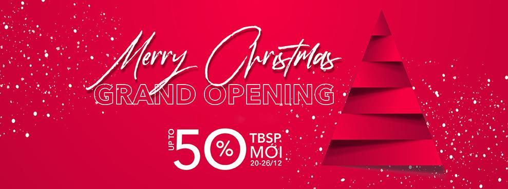 MERRY CHRISTMAS – ƯU ĐÃI TỚI 50% TBSP